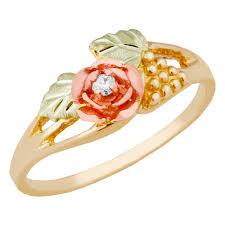 beautiful rose rings images Diamond rings in black hills gold motif boomer style jpg