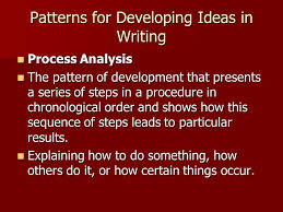 pattern of analysis patterns for developing ideas in writing ppt video online download