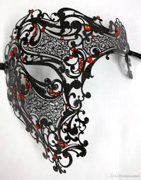 laser cut masquerade masks black diamond phantom laser cut venetian mask masquerade metal