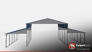 open carport strong ridgeline metal barn with open design metal barns info
