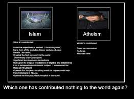 Atheist Vs Christian Meme - islam contributing nothing for humanity or the world vs atheism