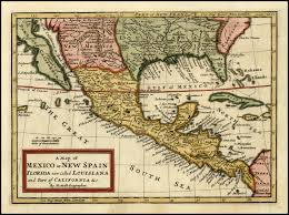 Map Of Colorado And New Mexico by File A Map Of Mexico Or New Spain Florida Now Called Louisiana