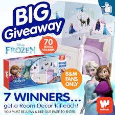 Frozen Room Decor B U0026m Lifestyle B U0026m U0027s Big Giveaway Win 1 Of 7 Frozen Room Decor Kit