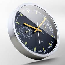 usd 52 97 metal wall clock with thermometer wall clock mute