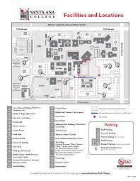 Harbor College Map Santa Ana College Maps