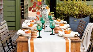 Fall Table Settings by Fall Table Decor Southern Living