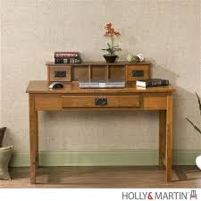 Modern Oak Desk 45 Modern Oak Desk With Mini Hutch And Keyboard Drawer