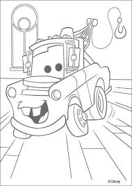 mater saves lightning mcqueen coloring pages hellokids for