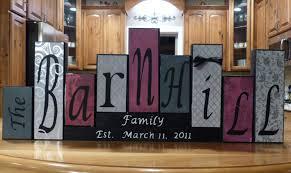 family block name letters wood blocks custom family name