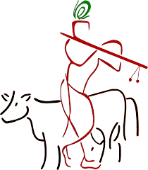 krishna and cow clipart clipartxtras