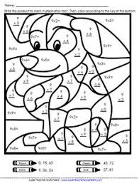 Color By Number Math Worksheets Math Color Worksheets Multiplication Worksheets Basic Facts