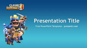 free clash royale powerpoint template prezentr