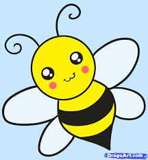drawn bee funny cartoon pencil color drawn bee funny cartoon
