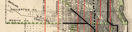 Map Chicago Metro by Chicago 1900 1914