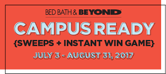 bed bath and beyond norfolk bath beyond campus ready sweeps instant win game july 3