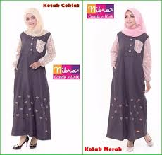 Baju Muslim Dewasa Ukuran Kecil jual promo murah nibras nb 134 merah gamis dewasa ukuran kecil di