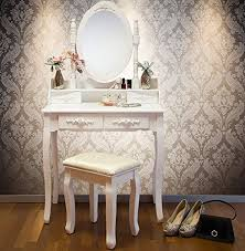 white bedroom dressing table vienna dr006 white dressing table stool mirror set 5 drawers