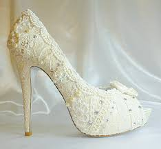 ivory shoes for wedding ivory wedding shoes with 5 1 4 heels and shabby chic