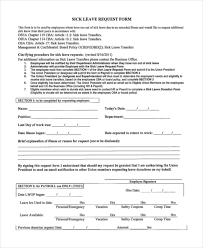 sample leave request form 10 free documents in doc pdf