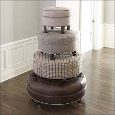Tufted Cocktail Ottoman Furniture Awesome Round Ottomans Small Ottoman Rectangular