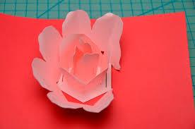 rose flower pop up card tutorial creative pop up cards