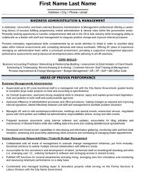business resume templates administration resume sle template