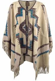 Double D Ranch Clothing Double D Ranch Manta Hermosa Poncho Pinto Ranch