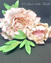 flower fondant cakes peony sugar flowers 2 gumpaste flowers cake topper fondant flower