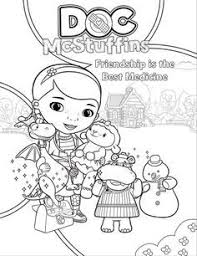 Doc Mcstuffins And Friends At The Clinic Coloring Pages Disney Disney Junior Coloring Sheets And Activity Sheets