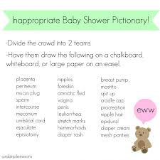 funny baby shower pictionary words images baby shower ideas