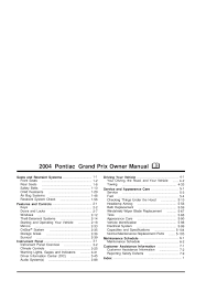 2004 pontiac grand prix owners manual pontiac printable u0026 free