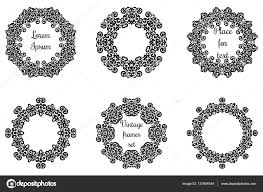 geometric ornaments set intricate lacy vector frames