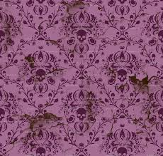Purple Damask Wallpaper by Plum And Orchid Skull Damask Distressed Wallpaper Elizabeth