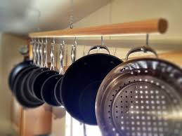 Putting Up Kitchen Cabinets Hanging Kitchen Cabinets Chic Hanging Wooden Pot Rack For 10 Piece