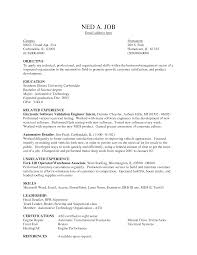 Qa Resume Objective Duties Of A Warehouse Worker For Resume Resume For Your Job