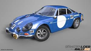 renault alpine a110 rally two new car models enter into the sébastien loeb rally evo garage