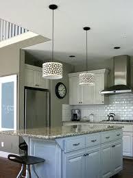 stylish pendant lights over island home design concept niche mini