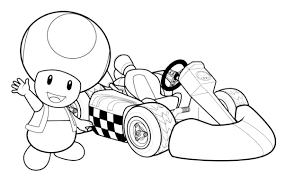 mario kart toad mario kart coloring pages coloring for kids
