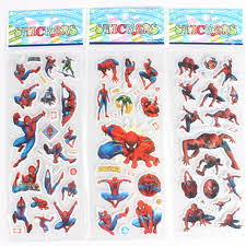 gifts picture more detailed about wholesale pcs lot wholesale pcs lot spider man christmas pvc puffy stickers sheet kids birthday party gift toys