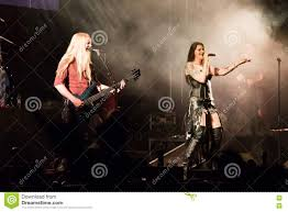 Floor Jansen Floor Jansen And Marco Hietala From Finnish Rock Band Nightwish