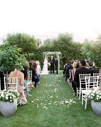 a casual outdoor wedding in palm springs with a black tie dress