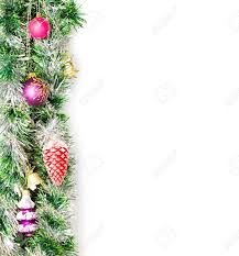christmas garland border with decoration ornament on