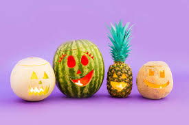how to carve pineapple and melon jack o u0027 lanterns this halloween