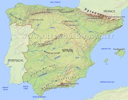 Portugal Spain Map by Spain Physical Map