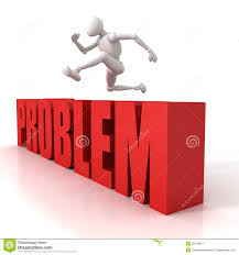 3d person jumping over a hurdle obstacle problems royalty free