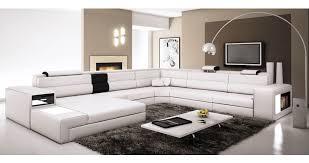 canapé panoramique deco in 6 canape panoramique cuir angle gauche blanc et noir