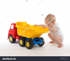 garbage truck bruder toy car for little boys bright organge and