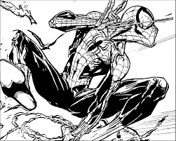 ultimate spider man vol spider man sketch coloring page