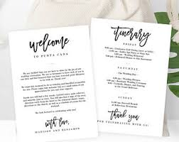 wedding itinerary wedding itinerary etsy