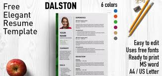 Free Resumes Templates For Microsoft Word Dalston Newsletter Resume Template